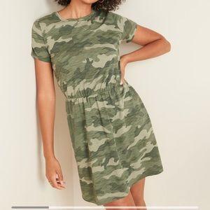 NWT sz XXL Old Navy waist defined camo dress